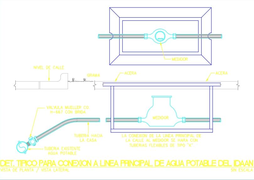 Conexión a línea principal de agua potable