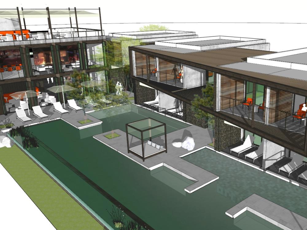 Resort turístico con enfoque bioclimático