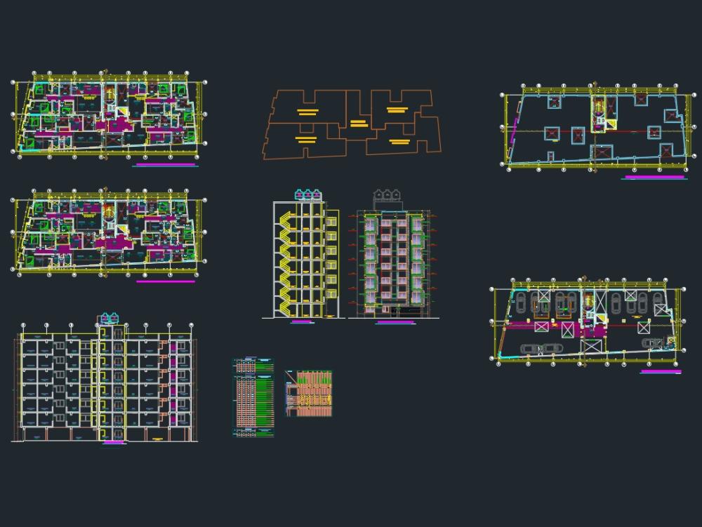 Multifamiliar de siete niveles; 7 pisos