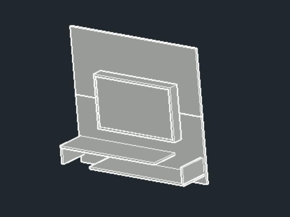Modular 3d para televisor de 32 pulgadas