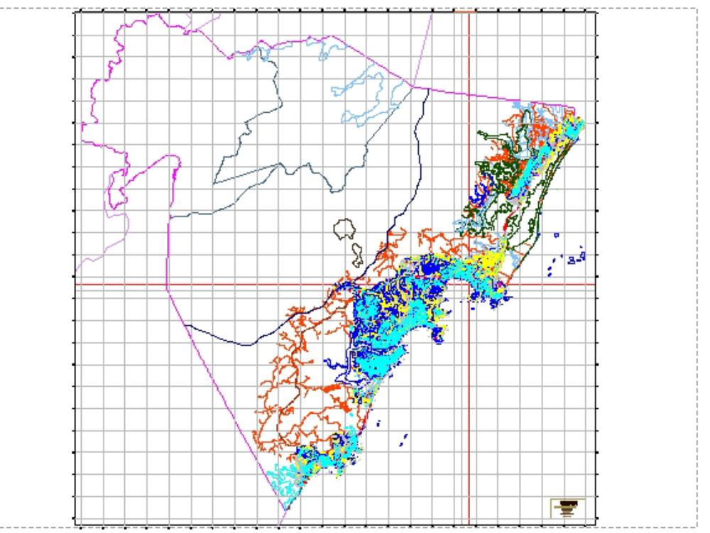 Guarapari-Karte mit Höhenlinien