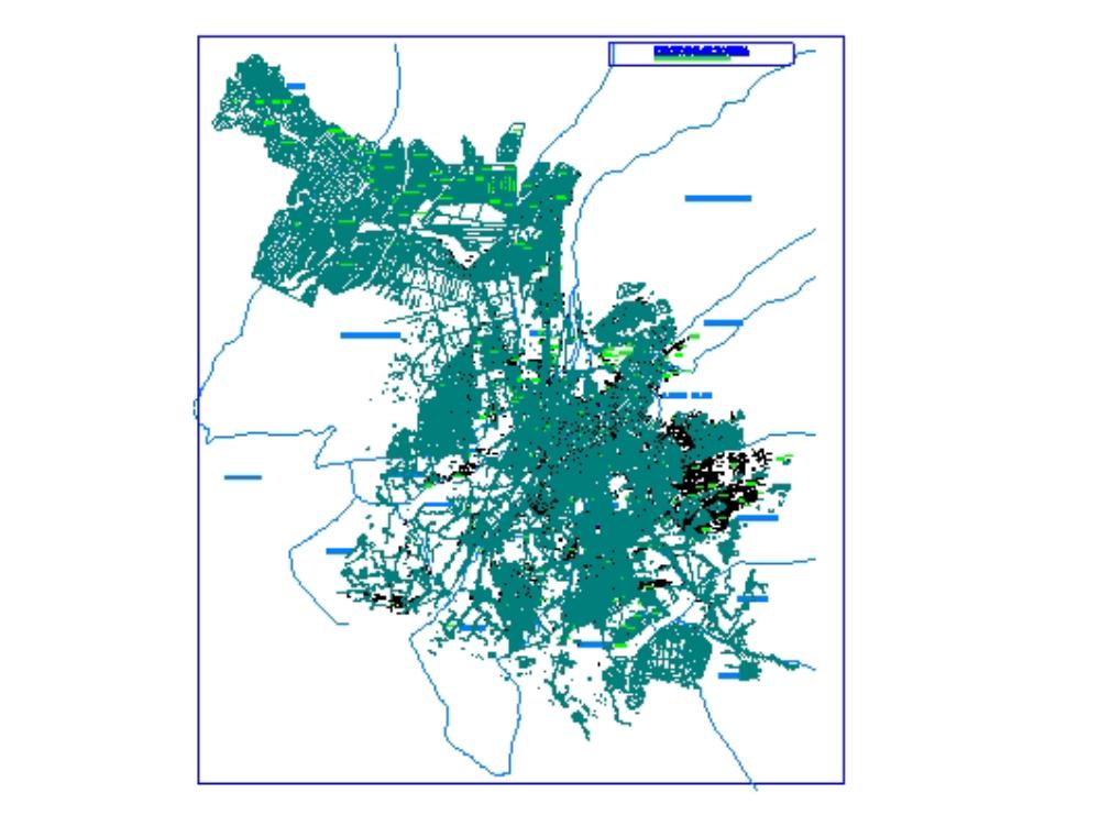 Arequipa-Karte mit allen Bezirken
