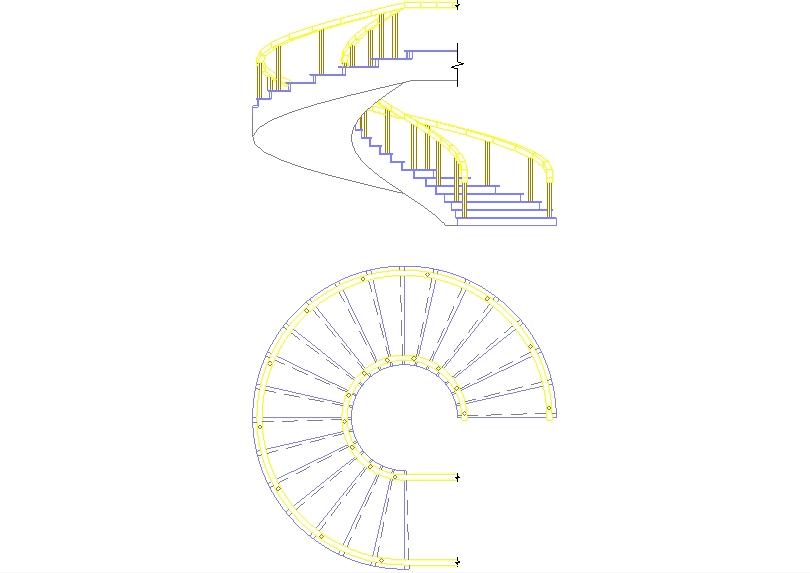 -diseño de una escalera de caracol.