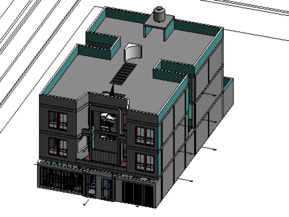 Arquitectura de una vivienda multifamiliar