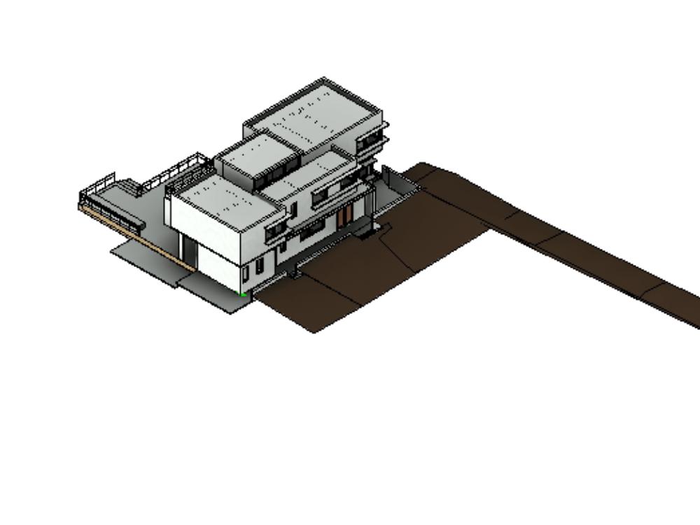Modelo de viviendas multifamiliar en revit 2012