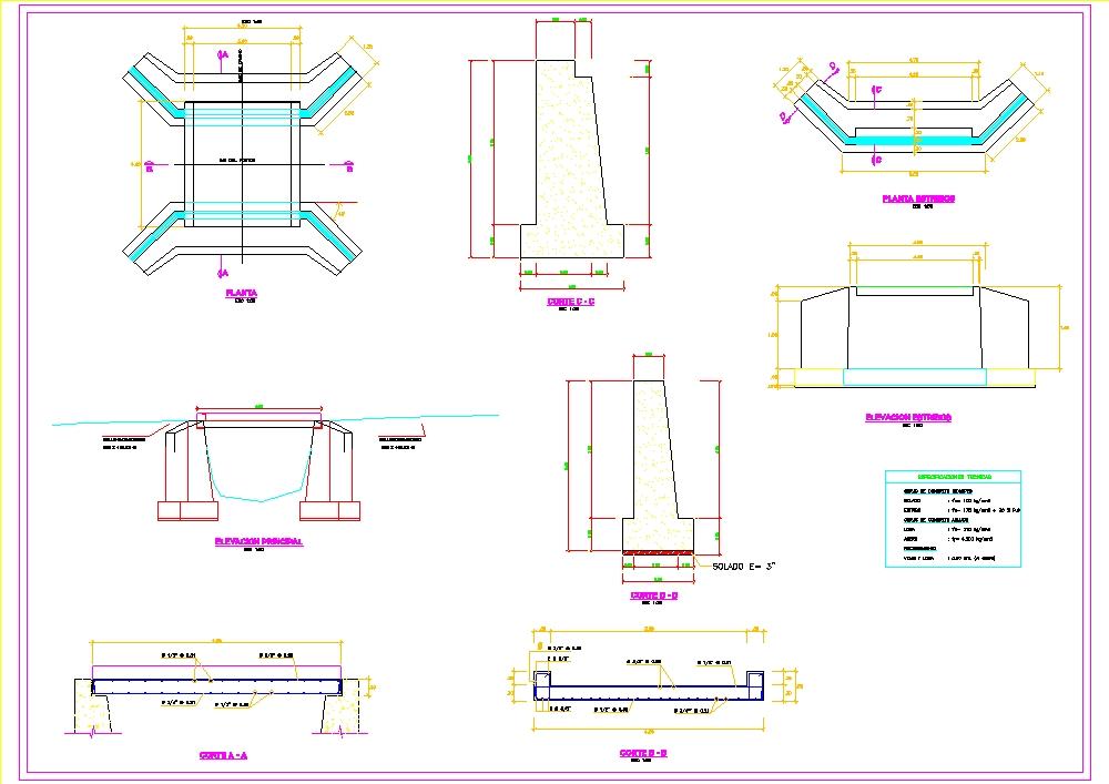 Pontoon 4.5 meters of free span between supports