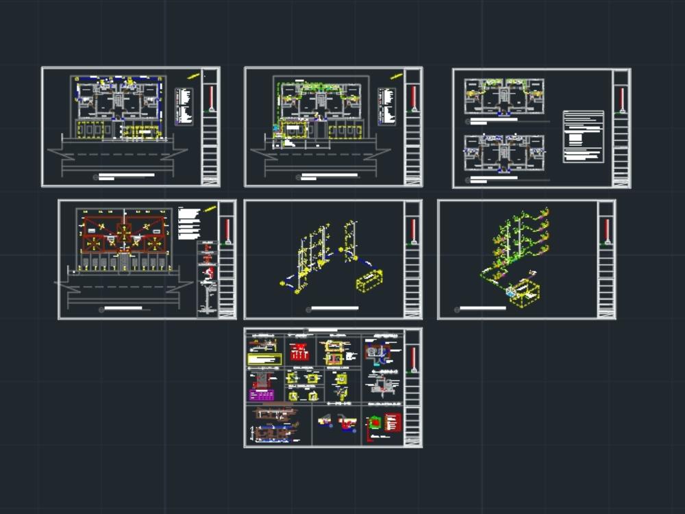 3-level department sanitary plans