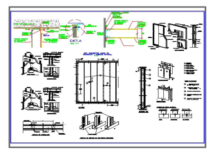 Detalle tabique drywall