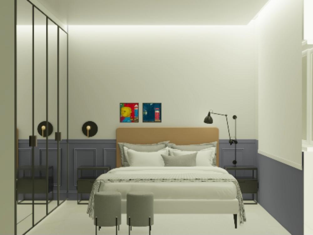 Suite 3d para parejas - diseño de interiores