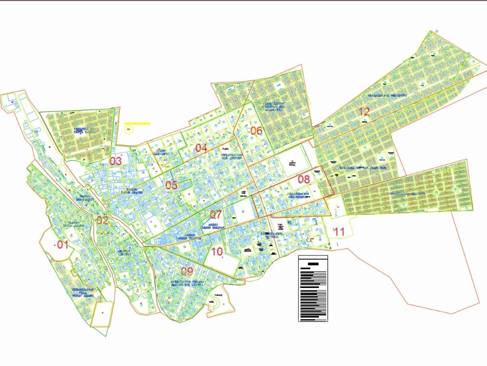 Plano catastral carabaya - macusani