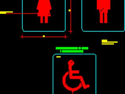 Signaling restrooms for disabilities