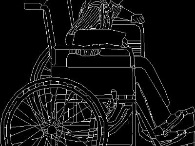 WHEELCHAIR -- LINE DRAWING