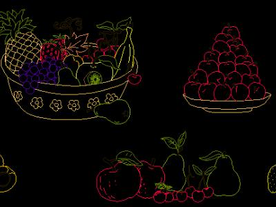 Drawings of Fruits and Vegetables