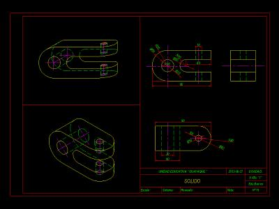 Mechanical parts - technical drawing