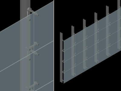 3D curtain wall