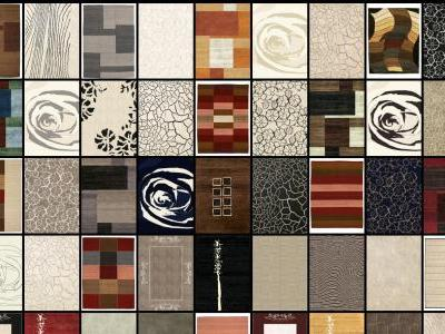 Collection of textures for carpets and rugs