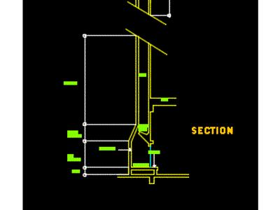 Fireplace plane and section