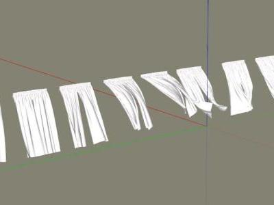 Curtains 3D Sketchup