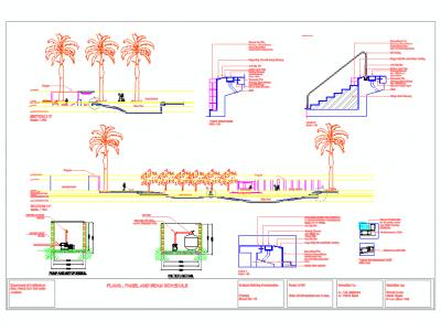 Detailed design and drawing pools
