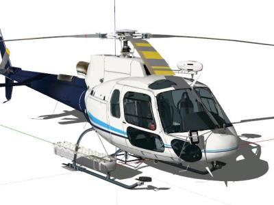 3D helicopter scale