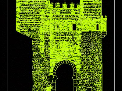 Puerta del Sol Wall of Toledo. photogrammetric survey
