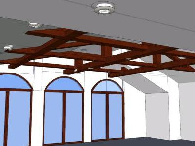 Design wooden roof