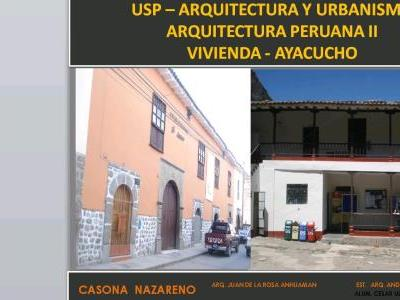 ARCHITECTURAL ANALYSIS OF HOUSE IN Ayacucho