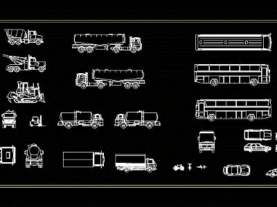 VEHICLES AND TRUCKS CAD BLOCKS