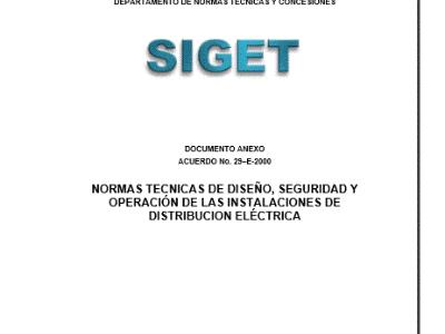 Technical design standards; Safety and Operation; of electrical distribution facilities