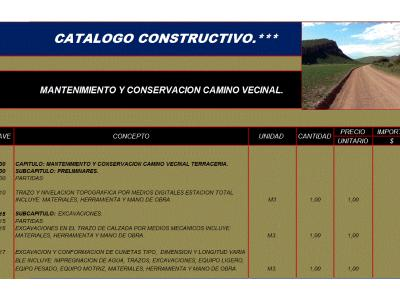 CONSTRUCTION CATALOG MAINTENANCE AND CONSERVATION OF NEIGHBORHOOD ROAD