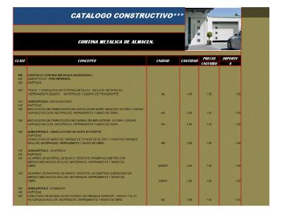 Electrical curtain construction catalog