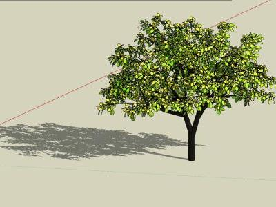 Yellow tree 3d