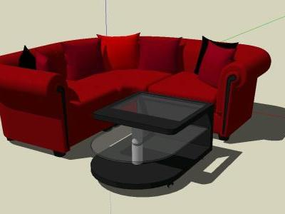 Sofa and 3D table