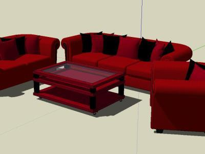 Sofas and 3D tables