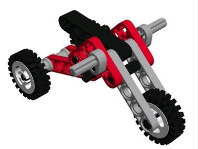 Modelo 3d Lego Motortricycle