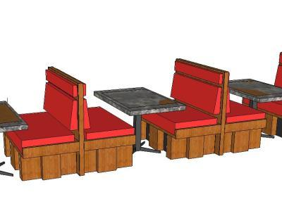 Armchairs for restaurants 3D