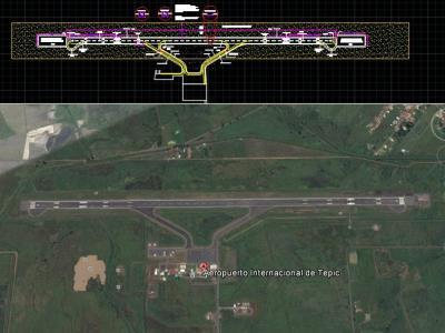 Tepic airport runway plan