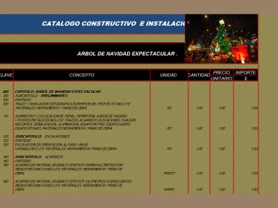 Construction catalog and installations of Christmas tree expectacular