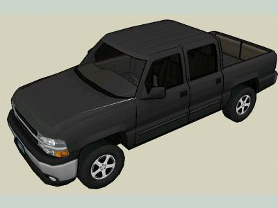 Pick-up truck 3d