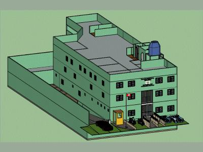 3D sketchup model of a Police station