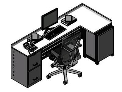 Office furniture 3d