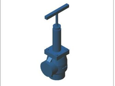 Long needle valve