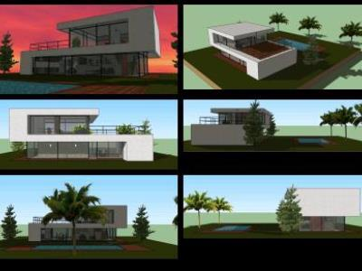 Contemporary 3D house