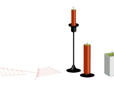 Decorative 3D candles