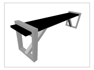 Long structure bench