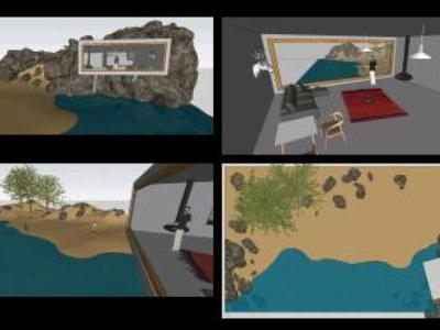 House on Beach 3d