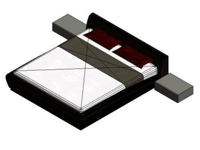 MATROMONIAL BED REVIT